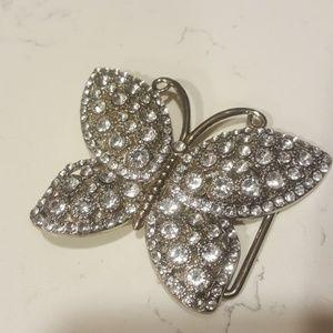 😻$5 w/any bundl Butterfly belt buckle rhinestones